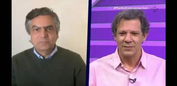Haddad tira a máscara de Mainardi, lembrando que ele votou em Bolsonaro, a quem hoje chama de criminoso