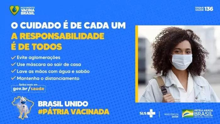 Com a CPI, 350 mil mortes depois, Bolsonaro lança campanha em defesa da máscara e contra aglomerações