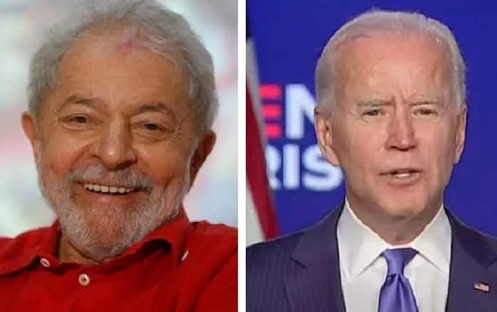 Lula sauda Joe Biden por ato histórico de defesa da quebra das patentes das vacinas contra Covid.