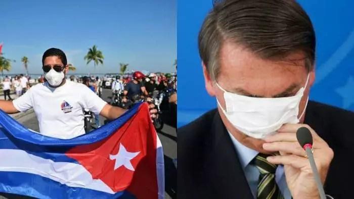 """Defensor de torturador e da ditadura, Bolsonaro defende """"democracia"""", em Cuba, como solução para manifestações.."""