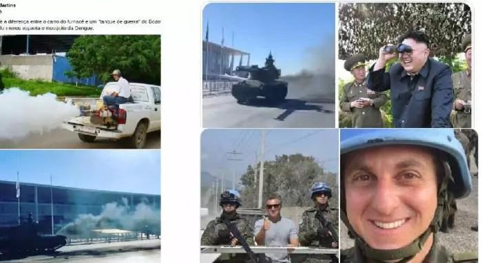 Vídeos: Fumacê, pamonha e desastre: Desfile de blindados vira ridículo nas redes sociais.