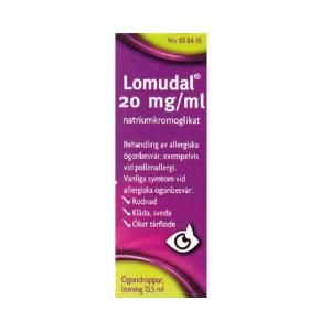 Lomudal 20 mg/ml Ögondroppar, lösning 13,5 ml
