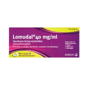 Lomudal 40 mg-ml Ögondroppar, lösning, endosbehållare 60 x 0,35 ml