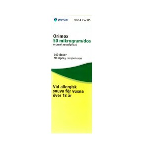Orimox 50 µg/dos Nässpray suspension 140 doser