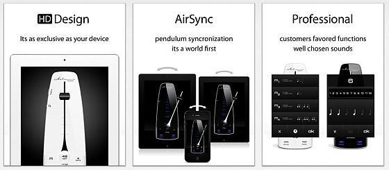 Neben der präzisen Umsetzung eines Metronoms auf iPhone und iPad besticht die App Metronome touch von Chris & Uwe durch die Synchronisierungsfunktion und eine besonders hochwertige Gestaltung.