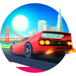 Horizon Chase: cool racing game with retro graphics