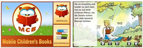 Screenshot Mobiles Kinderbuch Frau Holle