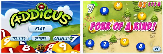 Screenshot iPhone App Addicus