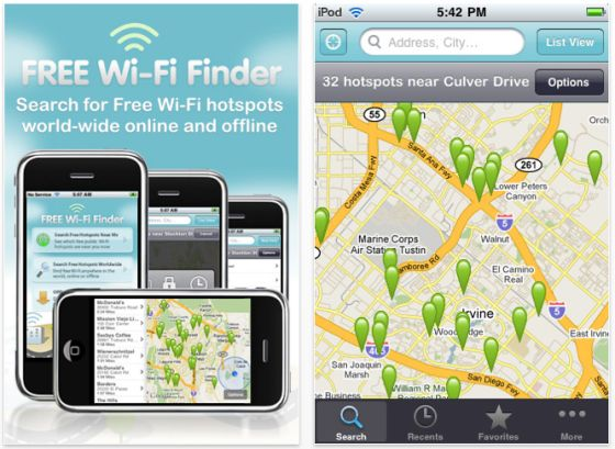 Screenshot Free Wi-Fi Finder
