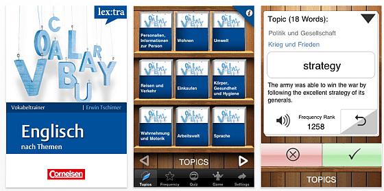 Screenshot Cornelsen Lextra Vokabel Englisch