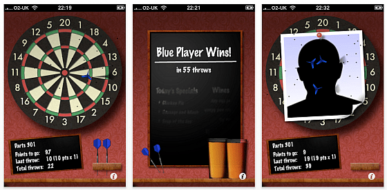 Screenshot der App Pub Darts