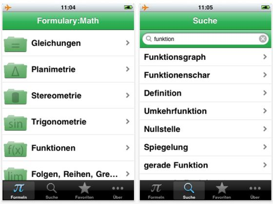 Screenshot Formulary Math