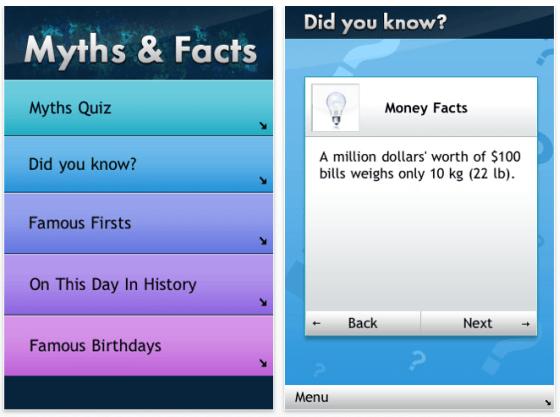 Screenshot Myths & Facts für iPhone und iPod Touch