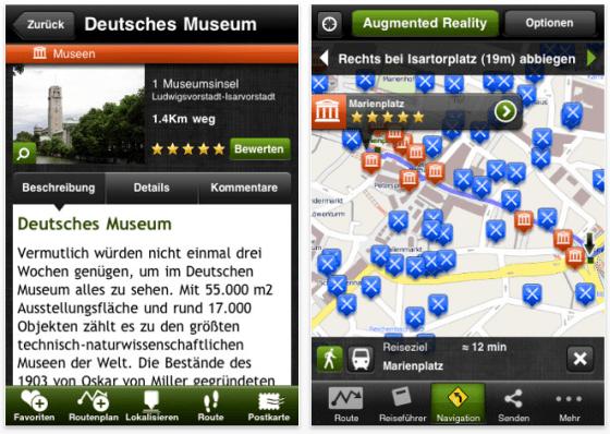 Screenshot mTrip München Reiseführer