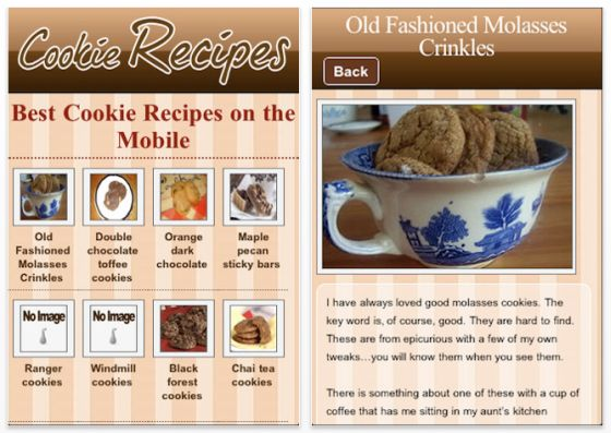 Cookie Recipesw Screen