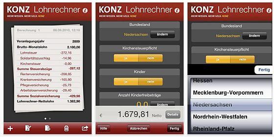 Lohnrechner Screen
