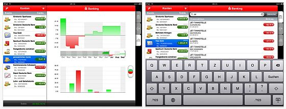 S-Banking für das iPad Screenshot