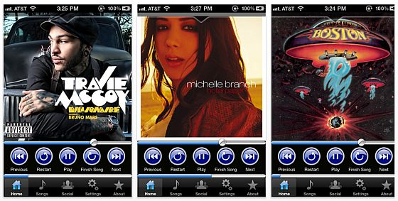 My DJ iPhone App Screenshot