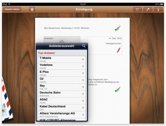 Aboalarm - Universal-App zur Kündigung von Verträgen Screenshot