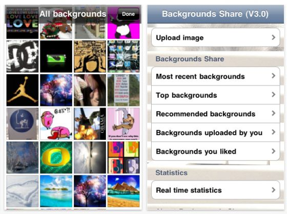 Background Share Screenshot