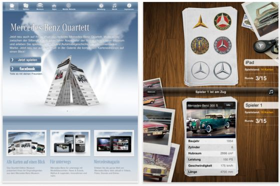Mercedes-Benz Quartett HD für das iPad Screenshot