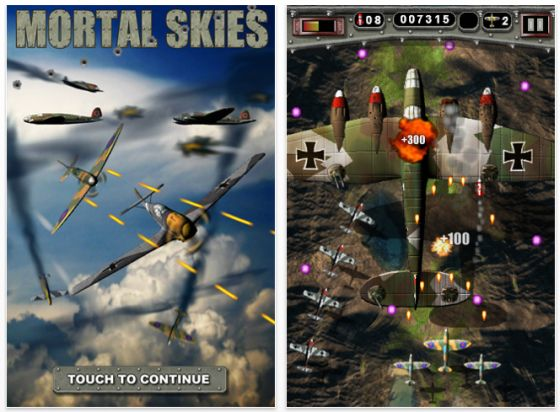 Mortal Skies für iPhone und iPod Touch Screen