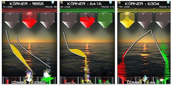 Sand Slides - Puzzle Spiel für iPhone, iPod Touch und iPad - Screenshot