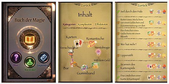 Das Buch der Magie - App für iPhone, iPod Touch und iPad Screenshot
