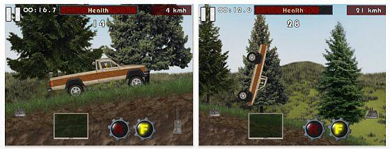 In Alpine Crawler fährst Du einen Pick-Ip auf Zeit durch unwegsames Gelände. Die Grafik ist recht einfach, die Steuerung auch.