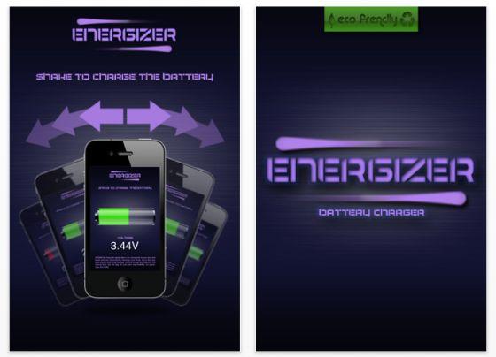 Energizer iPhone App Screenshot