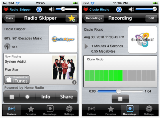 Home Radio Italy Italien-App mit radiosendern für das iPhone und den iPod Touch Screenshots