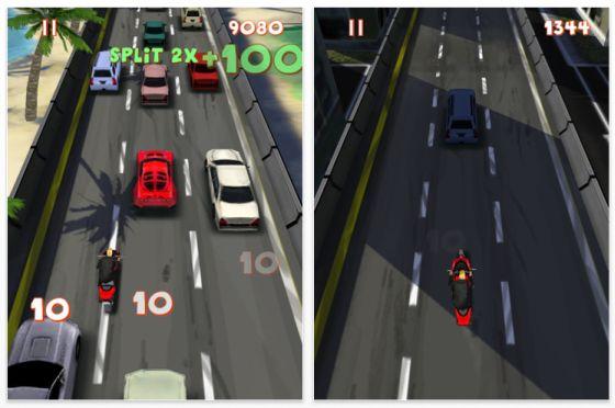 Laner Splitter Reaktionsspiel für iPhone, iPod Touch und iPad Motorradspiel Screenshot