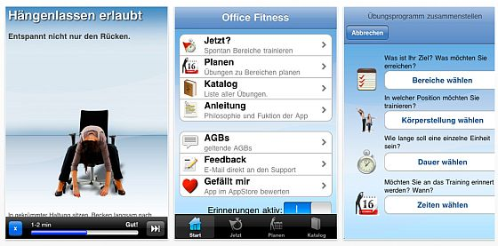 Office Fit Universal-App Screenshots