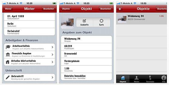 iSelbstauskunft iPhone App Screenshot