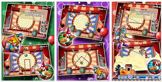 Clowning-Around iPhone-App Screenshots