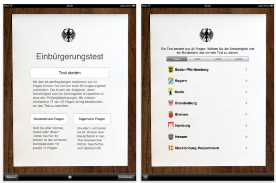 Einbürgerungstest D-Quiz Screenshot