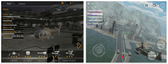 C.H.A.O.S. Hubschrauberspiel für iPhone, iPod Touch und iPad - Screenshot