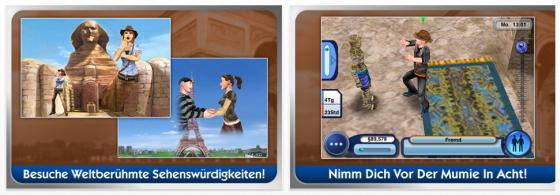 Die Sims 3 Reiseabenteuer iPhone Spiel Screenshots
