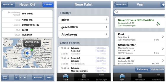 iphone fahrtenbuch app drivers log pro heute und morgen. Black Bedroom Furniture Sets. Home Design Ideas