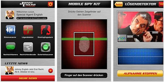 Johnny English Mobile Spy Kit für iPhone und iPad