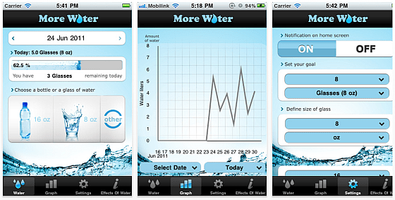 More Water App Screenshot
