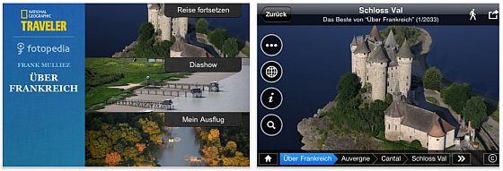Ueber Frankreich Fotopedia-App für ipühone und iPad