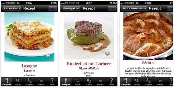 Italienisch Kochen HQ - Rezepte-App für iPhone und iPad - Screenshot