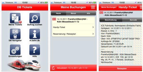 DB Tickets Screen