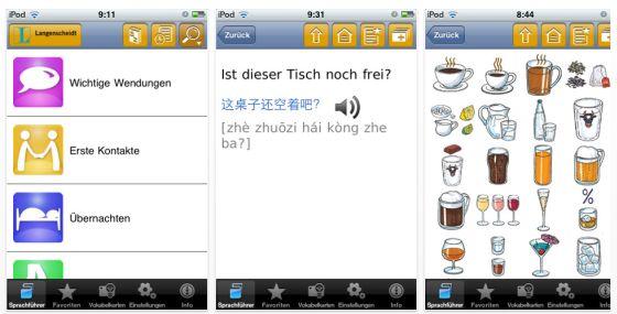 Langenscheidt talk & travel Chinesisch für iPhone und iPad - Screenshots