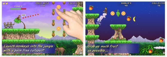 Monkey Flight für iPhone, iPod Touch und iPad - Screenshots