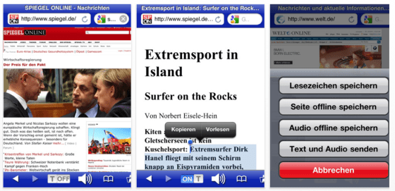 Voicereader Web Screenshot