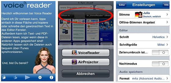 Voicereader_neu_Screens