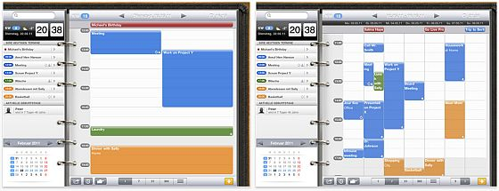 miCAL HD für das iPad Screenshot