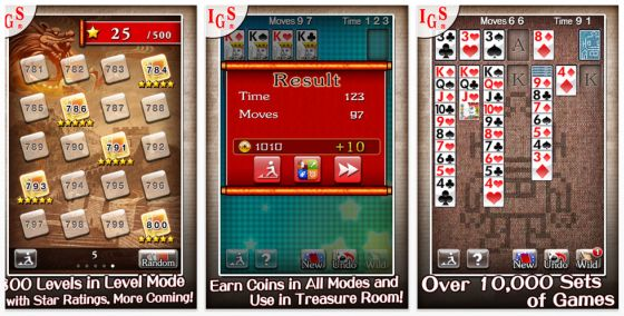 Great Solitaire für iPhone und iPod Touch Screenshots